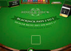 singlet deck blackjack