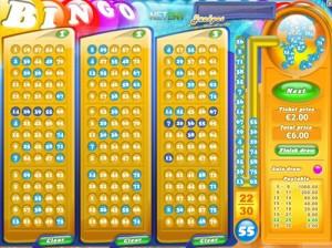 Jeu de Bingo - Logiciel Netent.