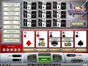 vidéo poker all american