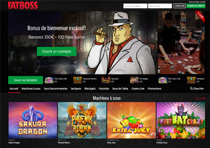 capture du site fatboss casino