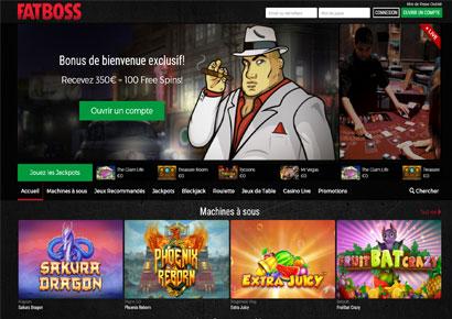 capture du site fatboss casino